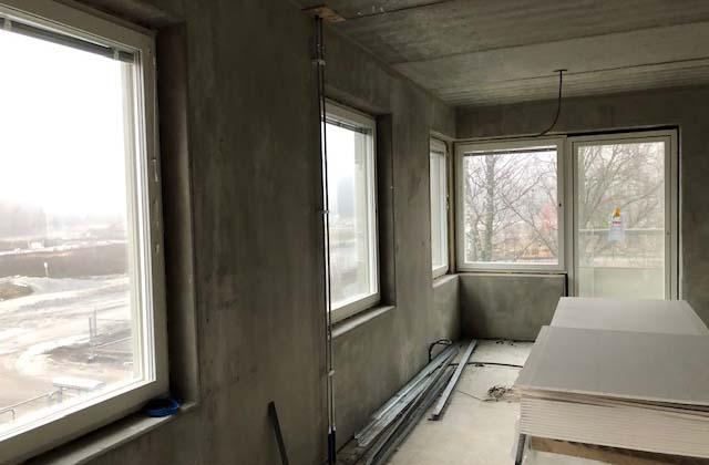 Lägenheterna börjar ta form